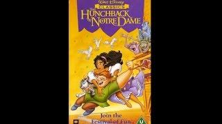 Opening Hunchback Notre Dame Uk Vhs