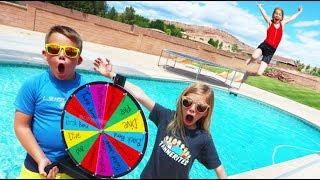Mystery Wheel Swimming Pool Challenge!