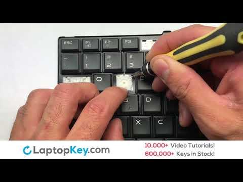 Alienware 13 R2 Laptop Keyboard Key Repair Video