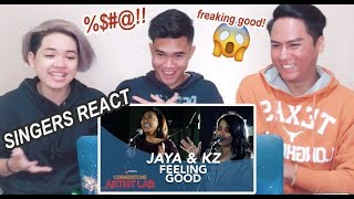 Kz Tandingan, Jaya - Feeling Good  Singers React