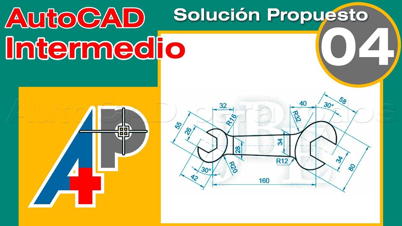 Solución Propuesto 04 - AutoCAD Intermedio