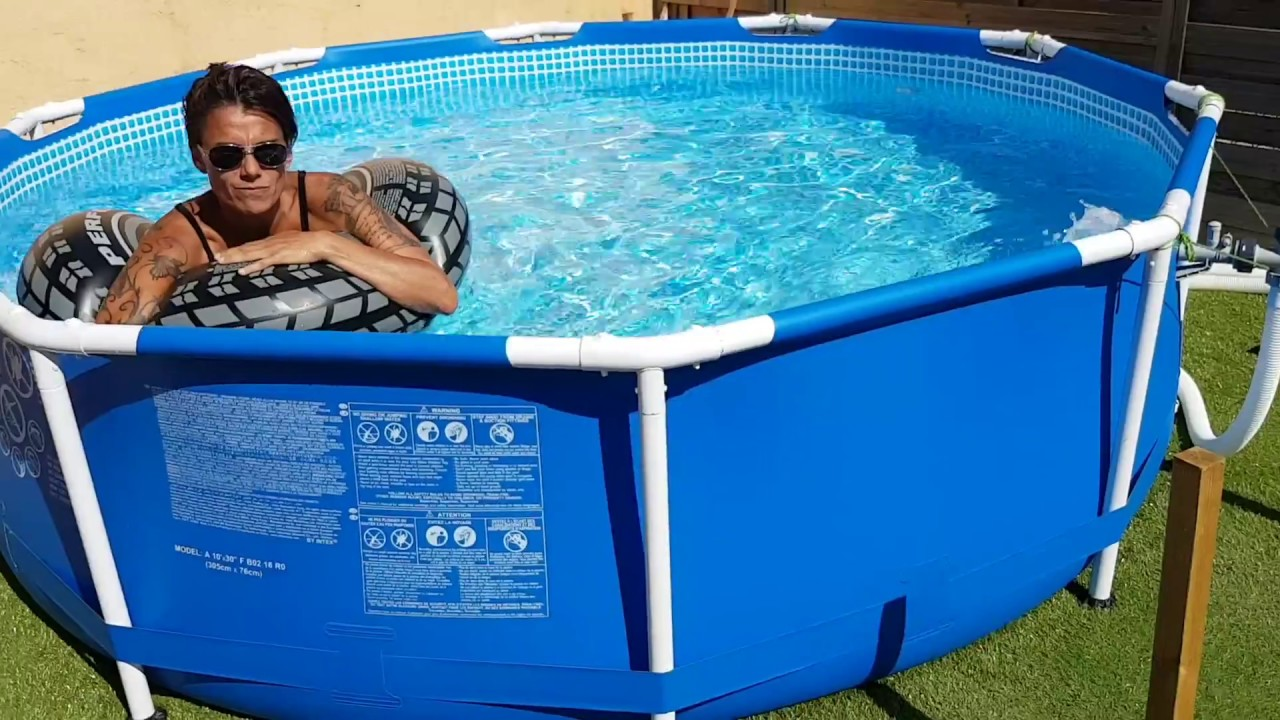 Finitions Piscine Intex Tubulaire 3 05Ø Youtube - Piscine Palette
