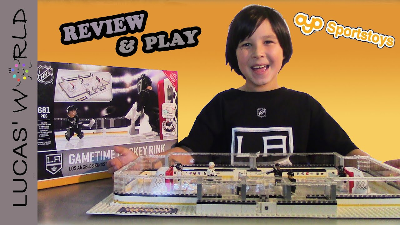 Oyo Sports La Kings Nhl Gametime Hockey Rink Play Set