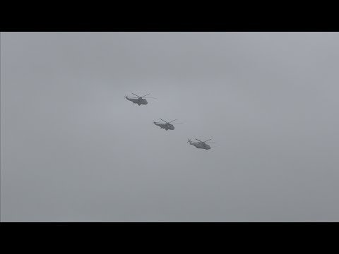 SEA KING MK7 FAREWELL FLYPAST (OVER St IVES)