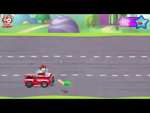 Paw Patrol PARTY RACERS Marshal and team are ready Full Episodes! Game for kids