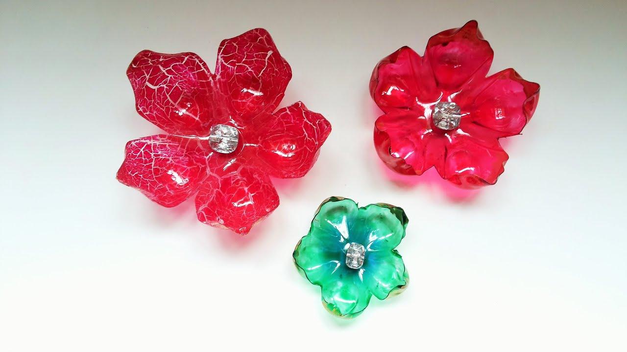 Fabuloso Flores feitas com garrafa pet passo a passo - step by step - YouTube AD06