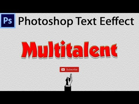 How to create Text effect in Photoshop hindi tutorial