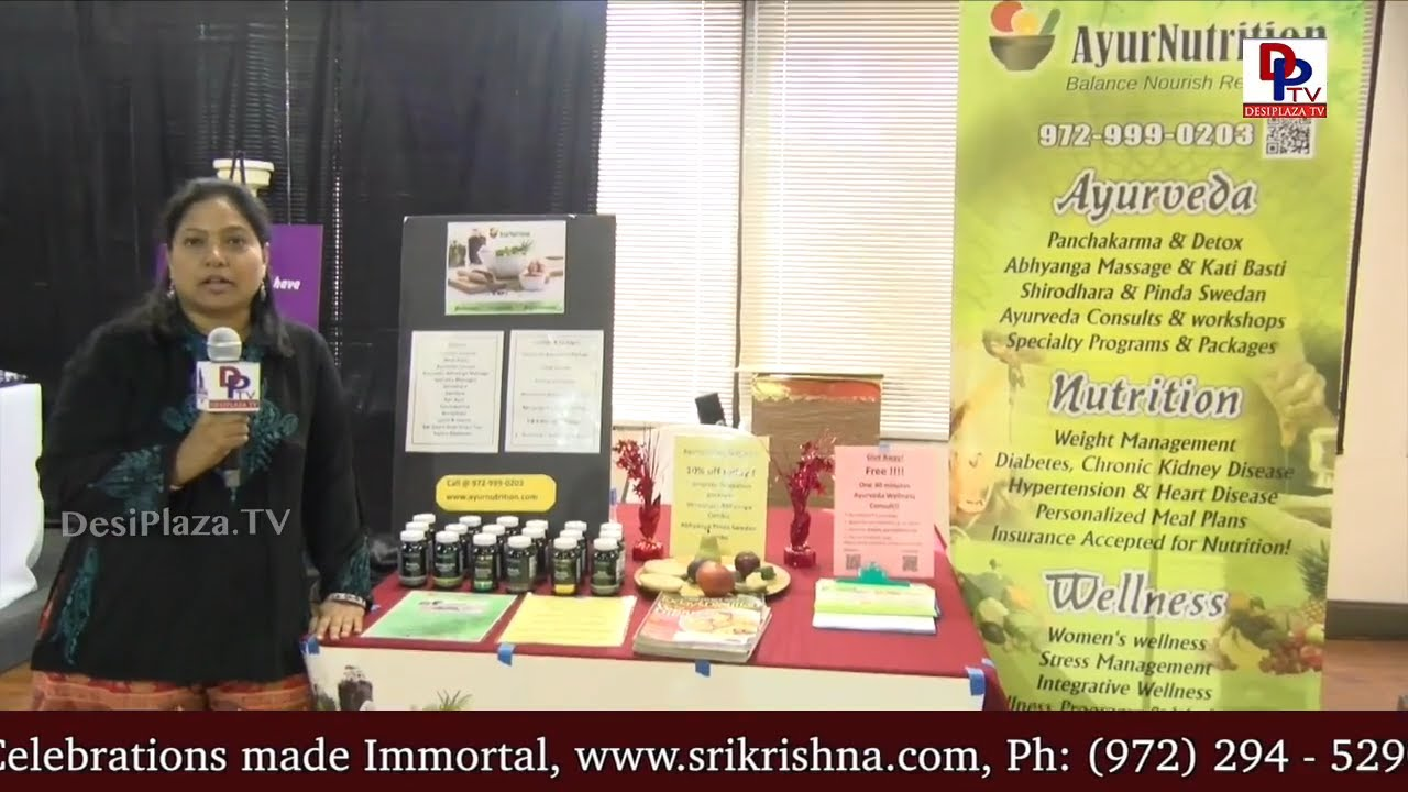 Gauri from AyurNutrition, Vendor at All In One Shopping Show at Desiplaza Studios, Irving | DPTV
