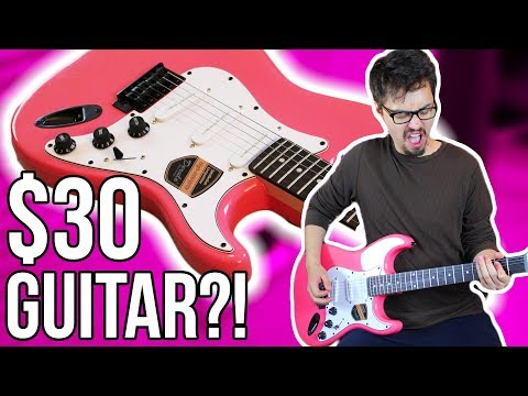 Demo/Review of a Pink $30 Guitar... Literally the Cheapest Strat I Could Find!!