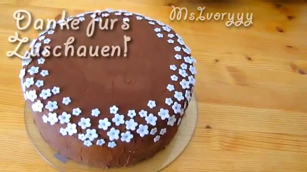 Fast Fondant Torte   super einfach Torte dekorieren
