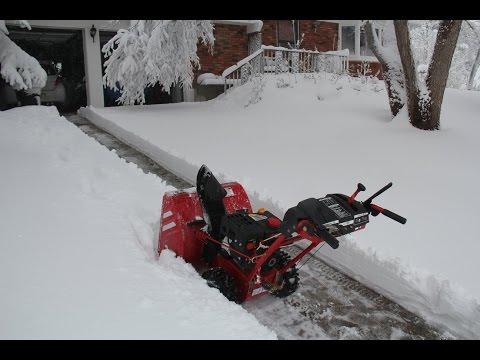 FPS Snow Thrower (Troy-Bilt Storm 2410) - A blizzard in Denver, Colorado