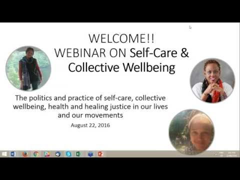 "AWID Webinar on ""Self Care and Collective Wellbeing"""