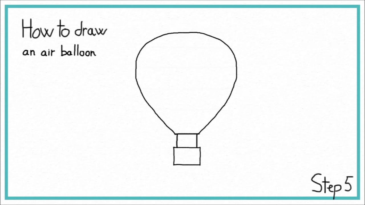 How to draw a HOT AIR BALLOON in 7 STEPS  EASY  YouTube