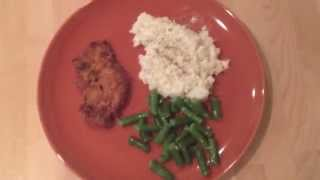 Low Carb Southern Fried Pork Chops And Cauliflower Mashed Potatoes
