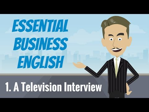 Essential Business English 1 — A Television Interview