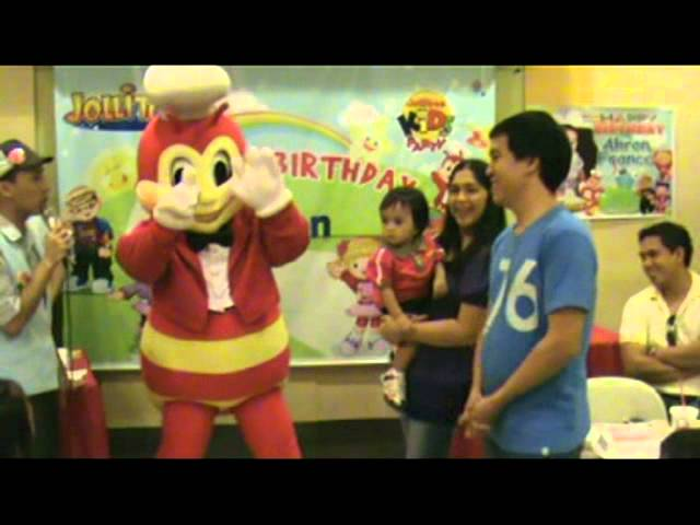 Jolibee's Birthday Wishes to Ahron Travel Video