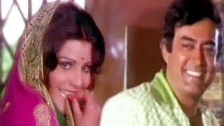 Sanjeev Kumar, Ashok Kumar, Sulakshana Pandit, Uljhan - Romantic Scene 2/21