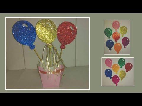 Balões Para Cachepôs Com Molde Youtube