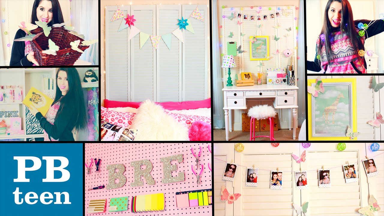 Easy diy projects for teenage girls rooms - Diy Pb Teen Inspired Room Decor Easy Cheap Dollar Store Diys Spice Up Your Boring Room Youtube