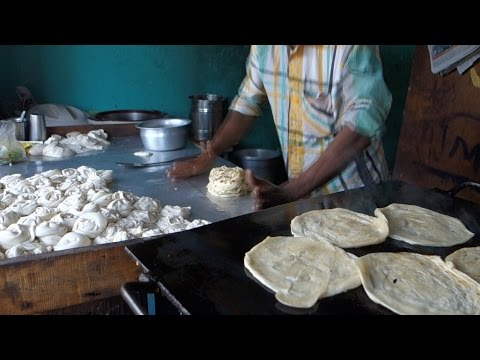 Malbari - Lachedar Paratha / Authentic Indian Recipe From A Street Restaurant In Kerala / Parotta