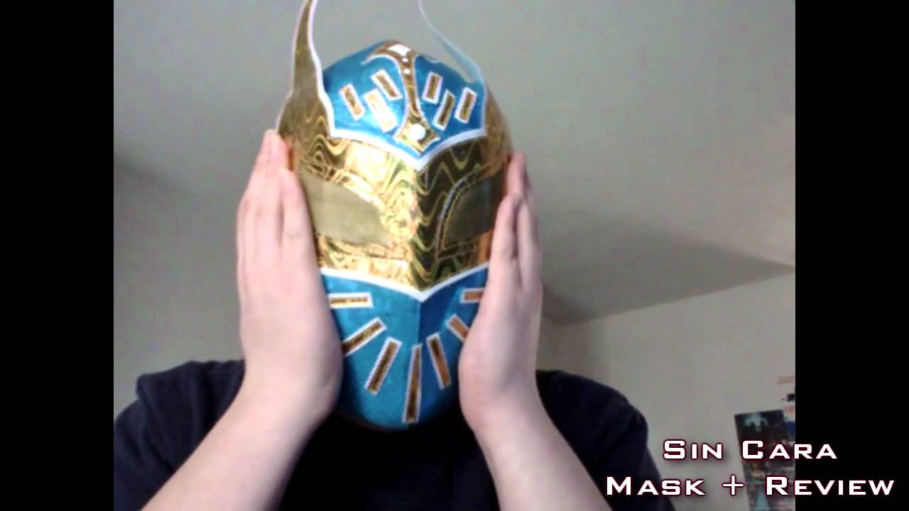 how to draw sin cara mask