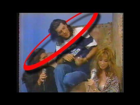 Pergolini Le Mira El Escote a Rosanna Arquette (TV Ataca 1991)