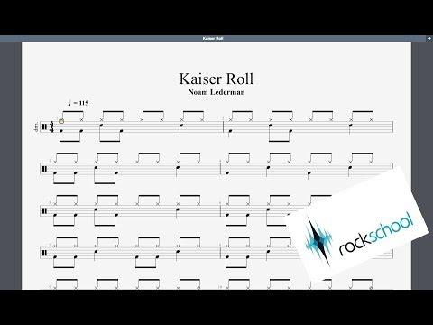 Kaiser Roll Rockschool Grade 1 Drums
