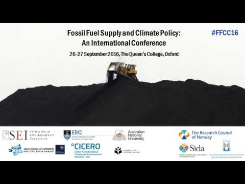 Day 1: Fossil Fuel Supply & Climate Policy - an International Conference