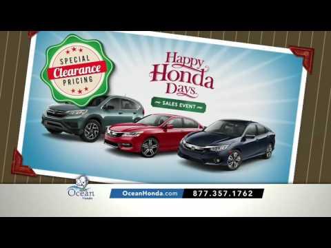 Make Zero Payments For 90 Days! | Happy Honda Days | Ocean Honda serving Salinas CA