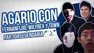 La Partida Legendaria: Agar.Io Con Fernanfloo, Willyrex Y Itowngameplay