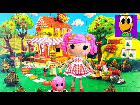 Jigsaw puzzle for kids | We're Lalaloopsy dolls for girls educational video art for kids