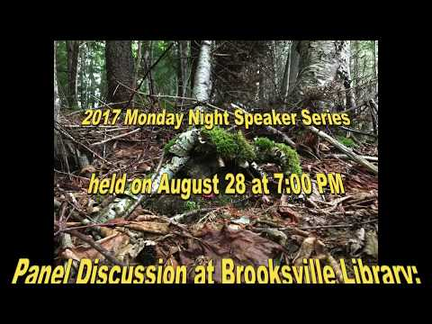 """Panel Discussion at Brooksville Library:  """" The Nearing Legacy & Its Influence on Brooksville"""""""