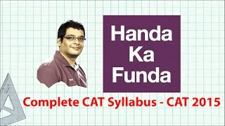 CAT Syllabus - Complete Details for CAT 2015 Preparation
