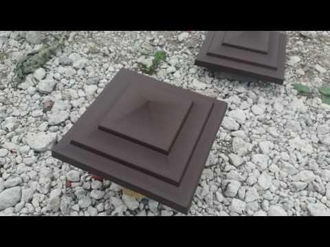 Идеальная крышка на столбы забора от производителя