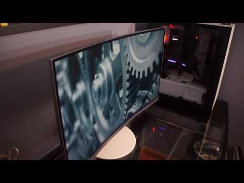 Unboxing Samsung Quantum Dot Curved Monitor (CH711)