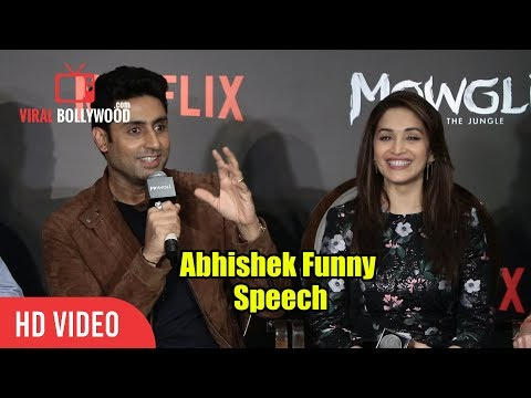 Abhishek Bachchan Funny Speech At Mowgli Hindi Web Series Press Conference