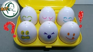 Learn shapes and color with special egg toy