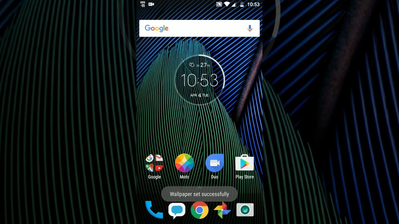 Moto G5 Plus Wallpaper Blur Effect