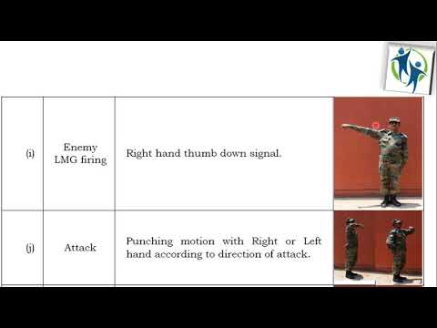 Field signals use In Indian Army with help of Hands, Weapons and Whistle# NCC/CDS