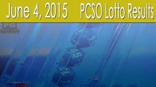 PCSO Lotto Results June 4, 2015 (6/49, 6/42, 6D, Swertres & EZ2)