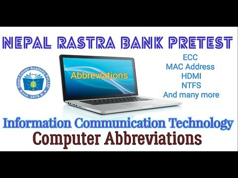 Nepal Rastra Bank prestest #8|Information and Communication Technology|Computer Abbreviations