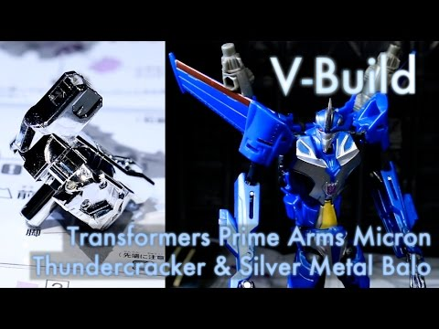 Arms Micron Thundercracker and Silver Metal Balo - V-Build 65