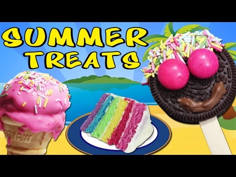 Summer Treats : Healthy Home Made Popsicles, Ice Cream Cone, Cupcakes & More