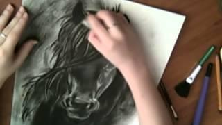 Конь. Рисунок.