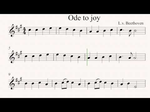 Ode to Joy- Violin sheet music