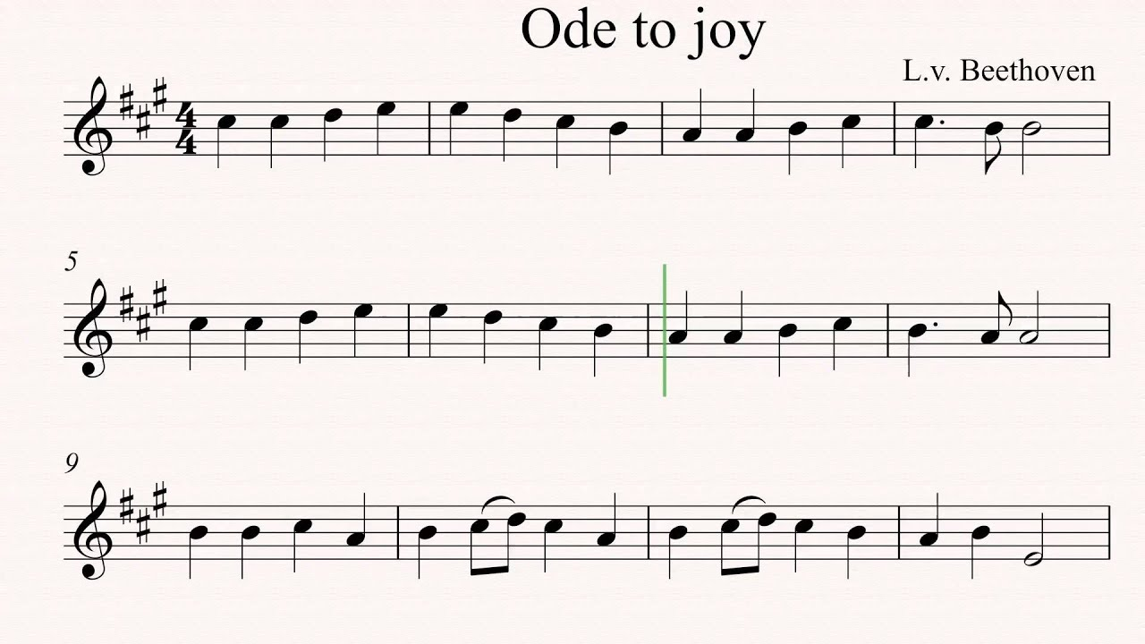 Ode To Joy Easy Violin Sheet Music