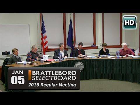 Brattleboro Selectboard Mtg 1/5/16