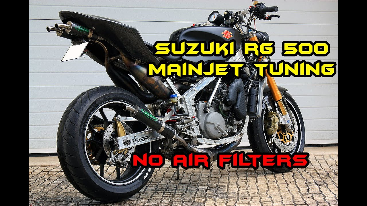 SUZUKI RG500    Mainjet tuning (without airfilters)