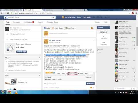How to see hidden friends list of any Facebook user - YouTube