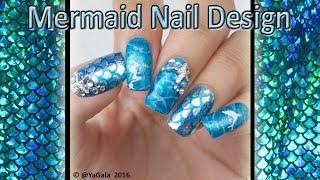 Mermaid nail design / Дизайн ногтей гель лаком